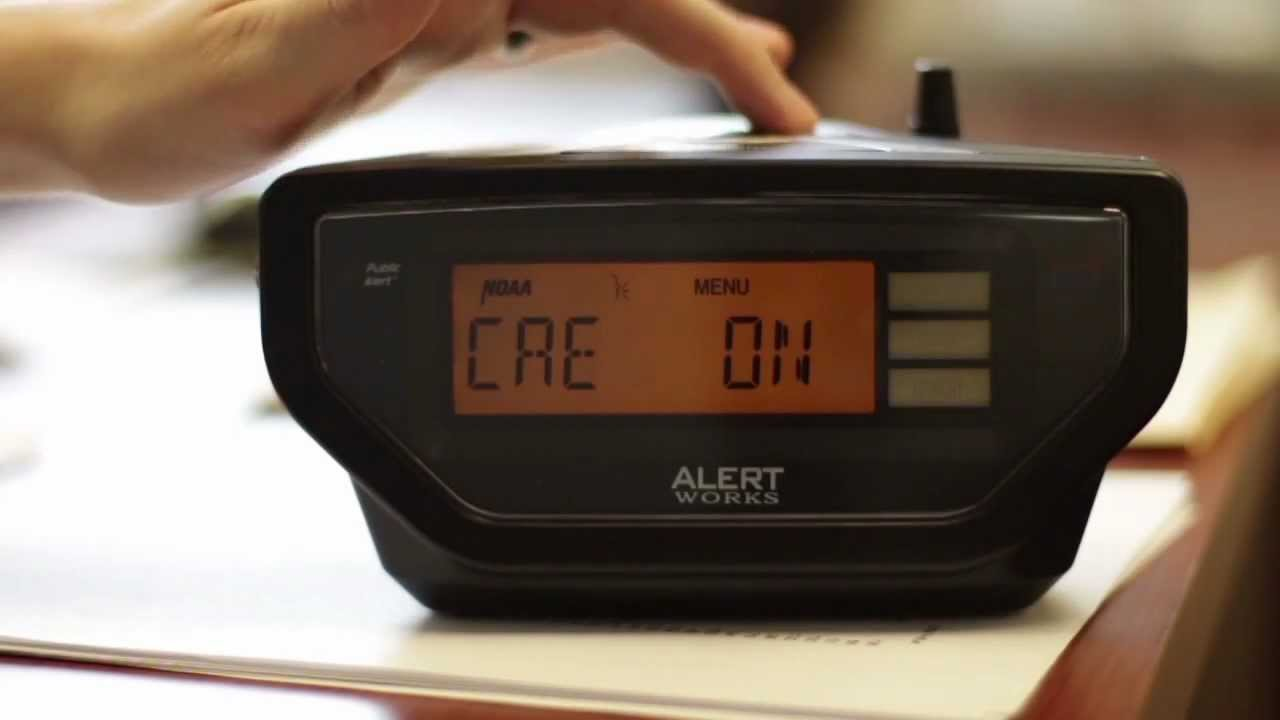 Alert Works EAR-10 Emergency Weather Alert All Hazard Radio