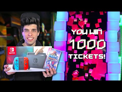 I Won A Nintendo Switch For 100,000 Tickets At The Arcade!!