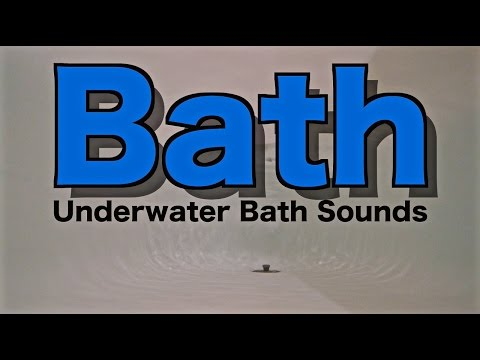 [4K] Underwater Bath Sounds | High Quality Sounds for Sleeping Audio and Video