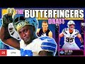 THE BUTTERFINGERS DRAFT! PLAYERS WITH THE LEAST CATCHING IN EVERY ROUND! Madden 19 Draft Champions