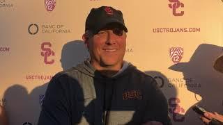 USC Football - 2018 WSU Monday: Clay Helton