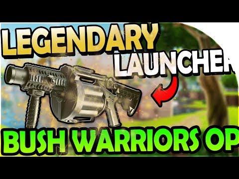 LEGENDARY GRENADE LAUNCHER + BUSH WARRIORS OP! - Fortnite Battle Royale Gameplay