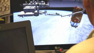Training to hook up the space station with Japan