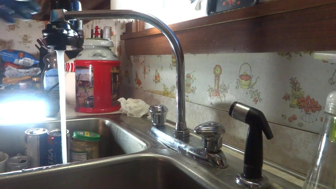 Kitchen Faucet Leaking At Base Of Spout Fixed Youtube