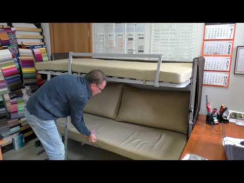Двухъярусная кровать трансформер, диван трансформер Фонтана