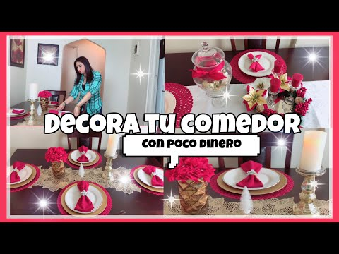 IDEAS PARA DECORAR TU COMEDOR EN NAVIDAD CON POCO DINERO/DECORACIONES NAVIDEÑAS 2018/DECORA CONMIGO