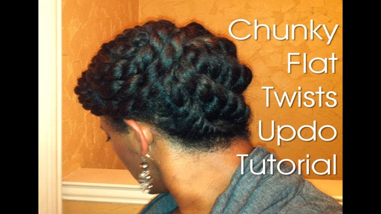 19 Natural Hair Protective Style Chunky Flat Twists Updo Youtube