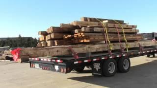 hand hewned timbers