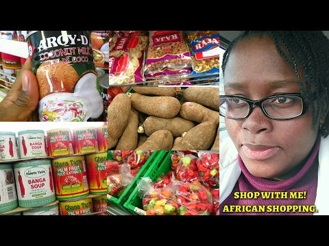 Vlog #1 | African/Nigerian Food Stuffs Shopping | Shop with