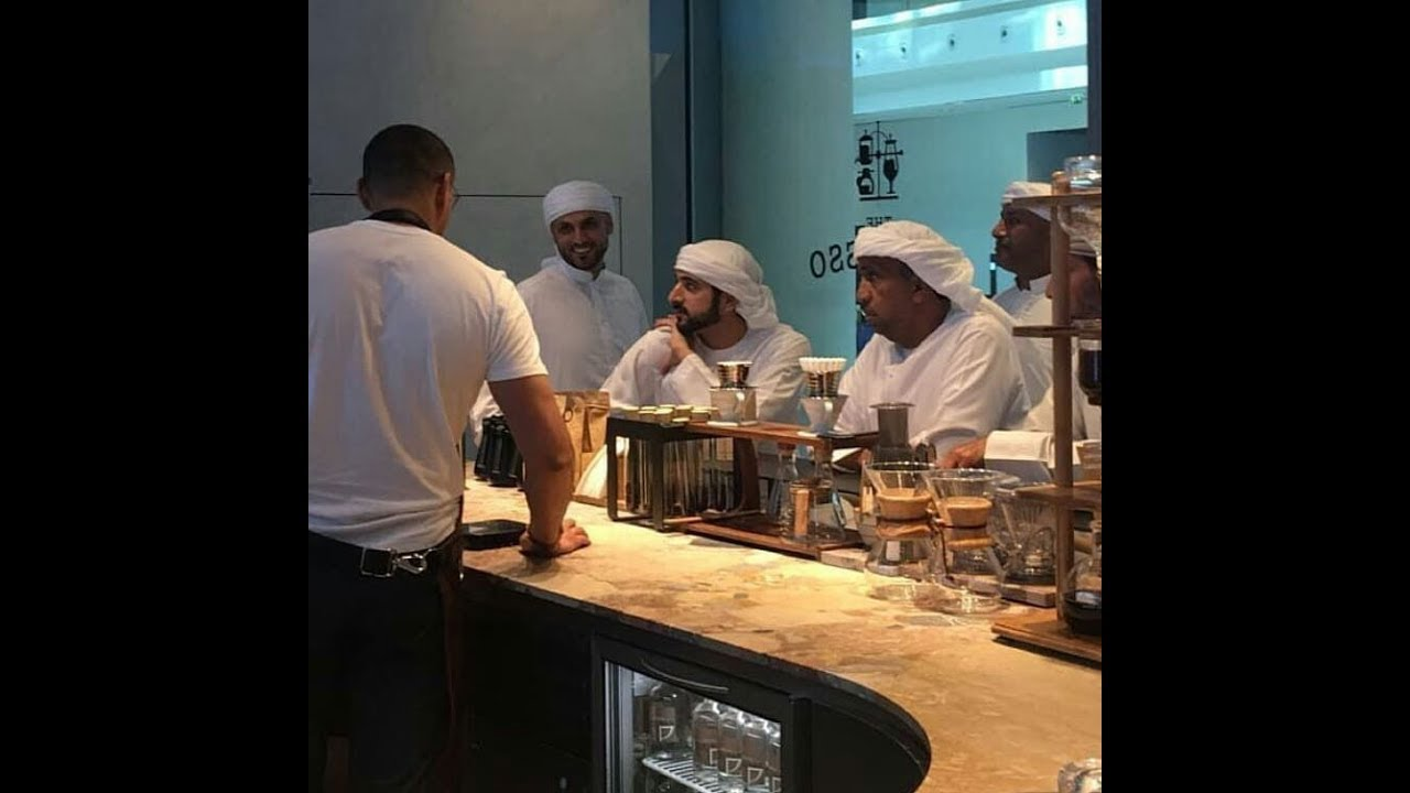 Sheikh Hamdan Crown Prince Of Dubai At Coffe Shop and Instagram story