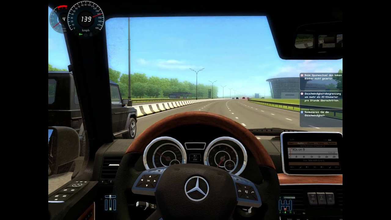City car driving 1 2 5 mercedes benz g 65 amg hd with g27 for Mercedes benz car racing games