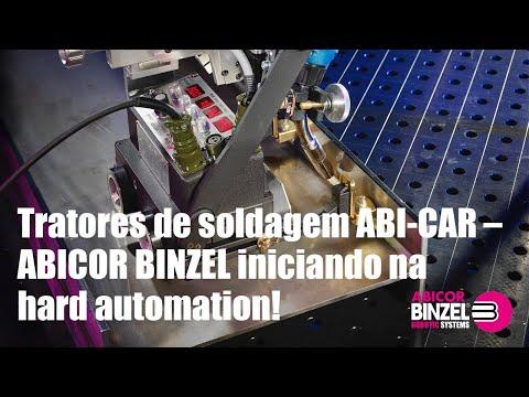 Tratores de soldagem ABI-CAR – ABICOR BINZEL iniciando na hard automation!