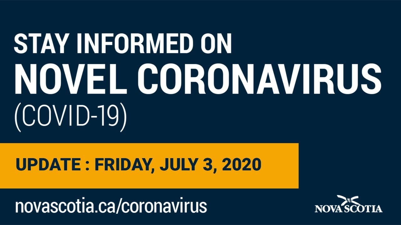 Update COVID-19 for Nova Scotians: Friday, July 3