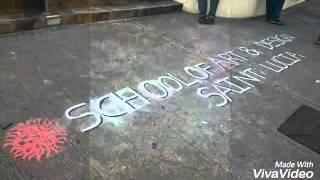School of Art and Design Easter sidewalk chalk art festival 2016 - Yannick James 3D illusion