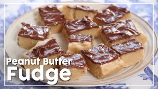 Peanut Butter Fudge With Nutella - Easy To Make Fudge Recipe - My Recipe Book By Tarika Singh