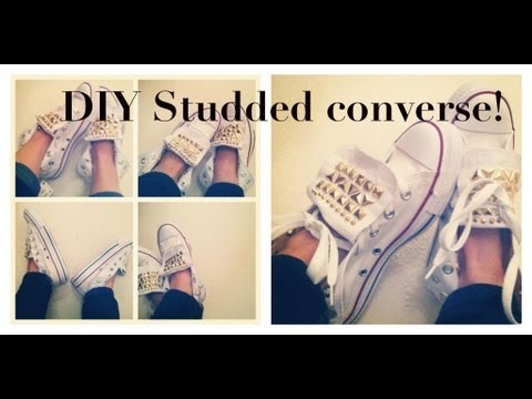 cd1d548b3777 DIY  Stud Your Own Converse! - YouTube