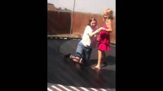 Mom on trampoline