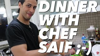 BACK, BICEPS, & ABS WORKOUT & DINNER WITH CHEF SAIF| SAIF