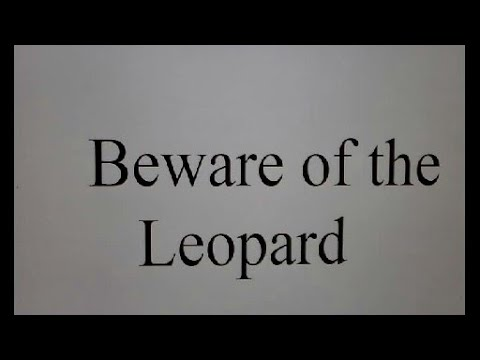 Hermes Web Chat, Beware Of The Leopard.