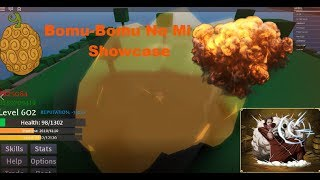 BOMU BOMU NO MI SHOWCASE! | ONE PIECE: OPEN SEAS | ROBLOX