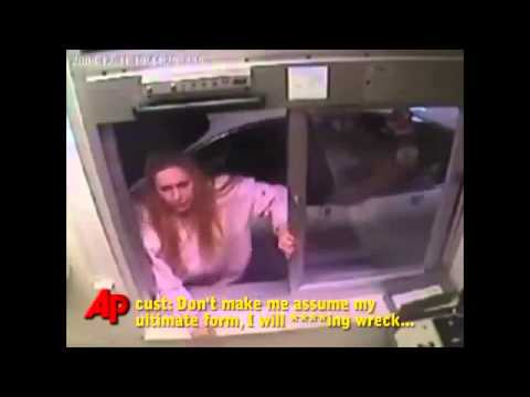 McDonald's Assault VIDEO Angry Woman Attacks Drive-Thru Empl