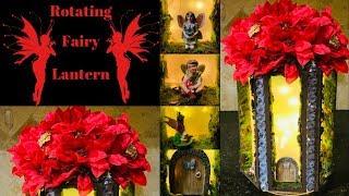 Dollar Tree Rustic Glam Gem Studded Rotating Fairy Lantern   How to Tutorial   Craftmas in July 2019