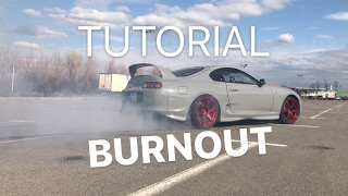#19 Car vLog - TUTORIAL Cum sa faci BURNOUT - Toyota Supra
