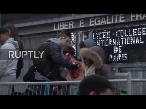 France: Students continue barricade Paris college entrance in protest at police violence