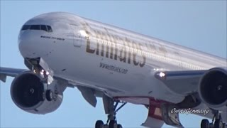 Emirates Boeing 777-300ER A6-EPV Snowy Missed Approach Gear Drop Test Flight
