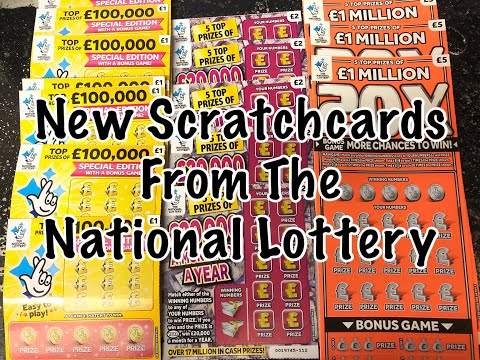 New Scratchcards From The National Lottery