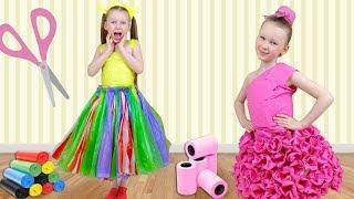 Лиза делает новые платья для вечеринки