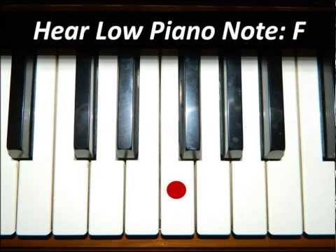 Hear Piano Note - Low F