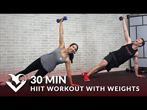 30 Minute HIIT Workout with Weights Full Body 30 Min HIIT Tabata Workouts at Home with Dumbbells