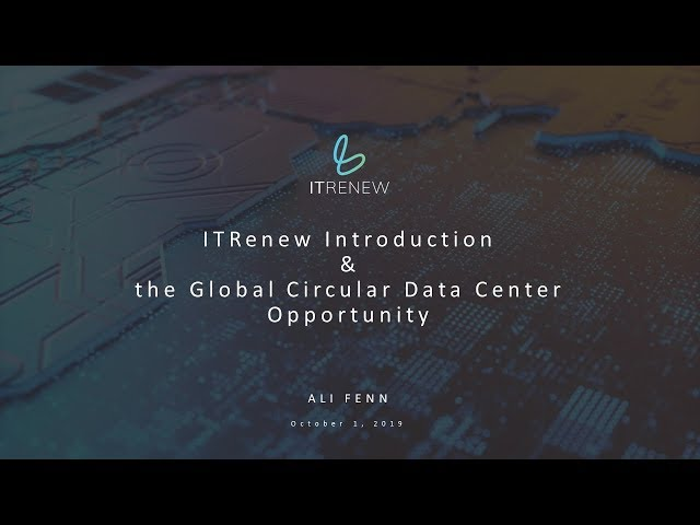 "ITRenew Webinar   ""Unlocking the Power of Circular Data Centers"""