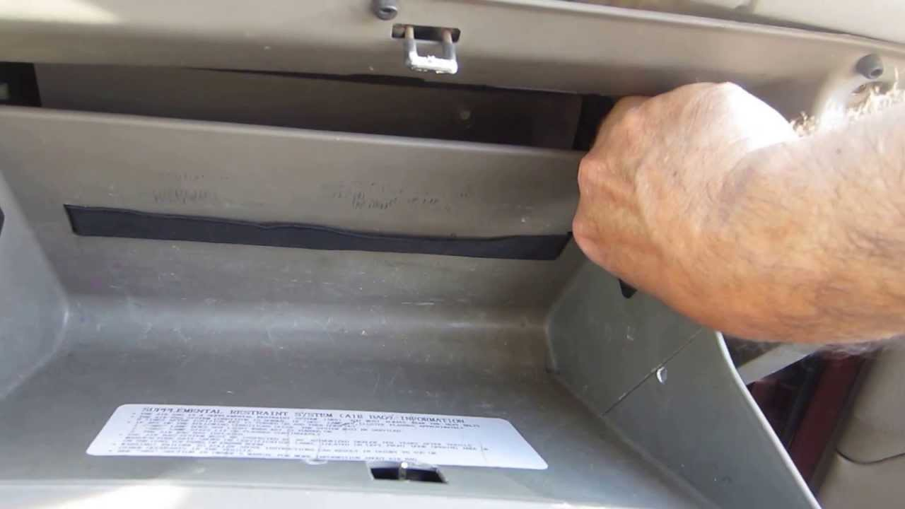 2003 Hyundai Sonata Cabin Filter Replacementlocation Youtube Air