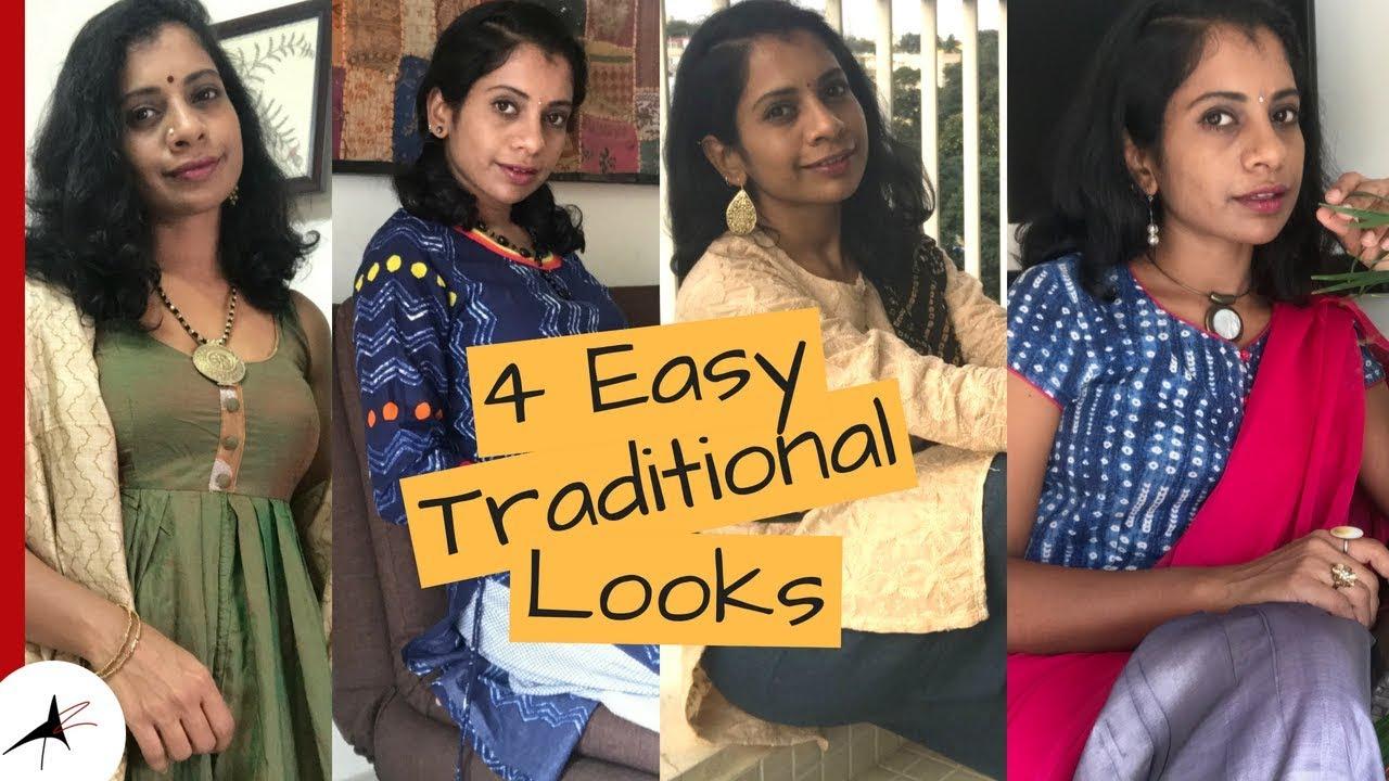 Indian Ethnic Wear Lookbook   4 Easy Traditional Looks   Arpitharai