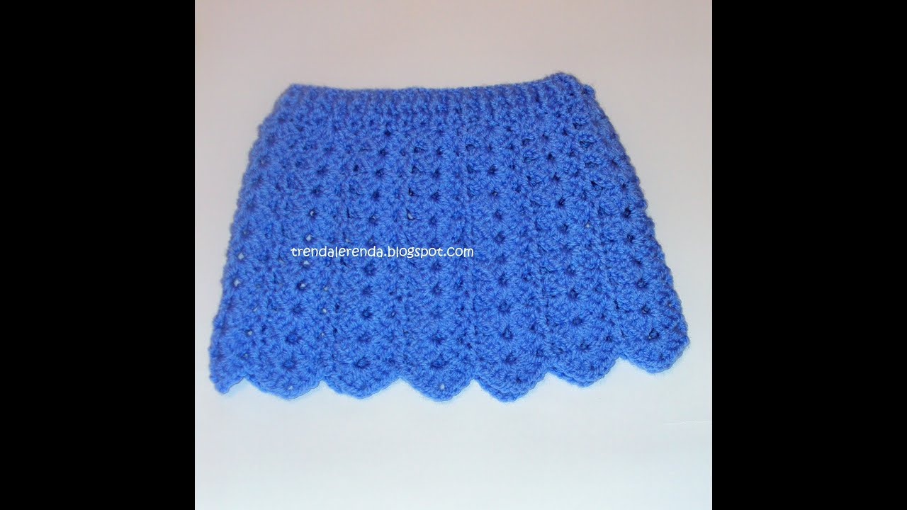 Free Crochet Patterns Baby Shower Favors : Crochet baby skirt tutorial. Crochet doll skirt step by ...