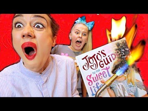 BURNING YOUTUBER BOOKS WITH JOJO SIWA!