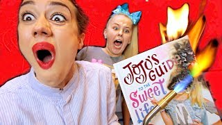 BURNING YOUTUBER BOOKS WITH JOJO SIWA! thumbnail