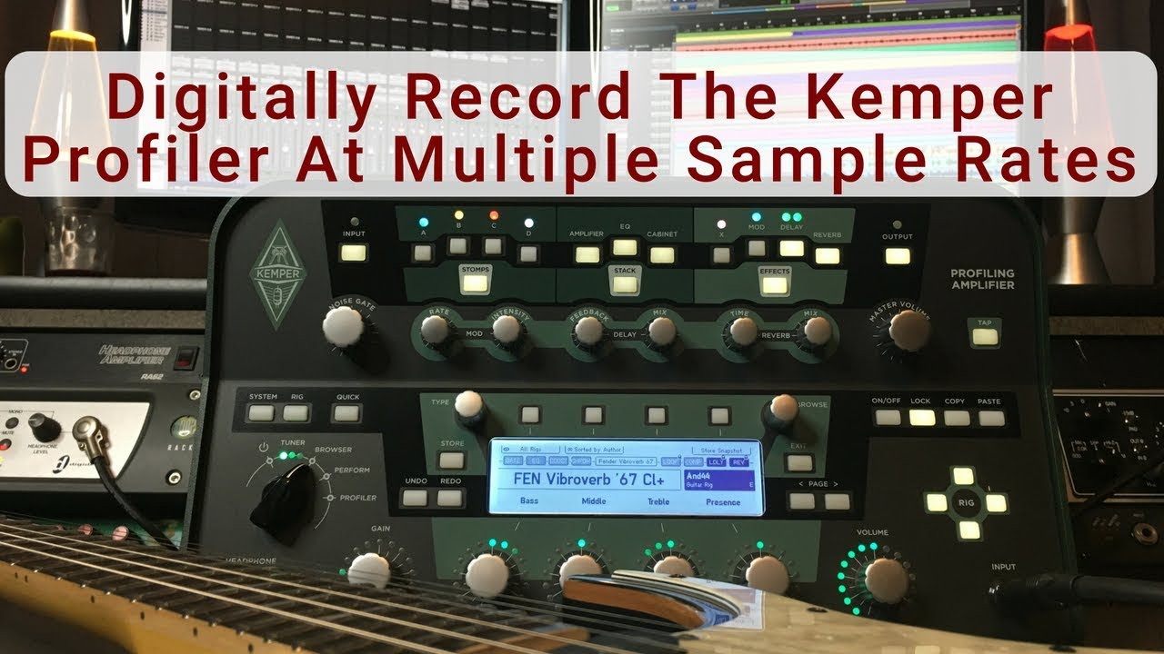 Best way to connect a Kemper to an audio interface?   The