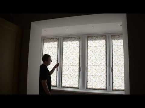Римская штора на створку пластикового окна