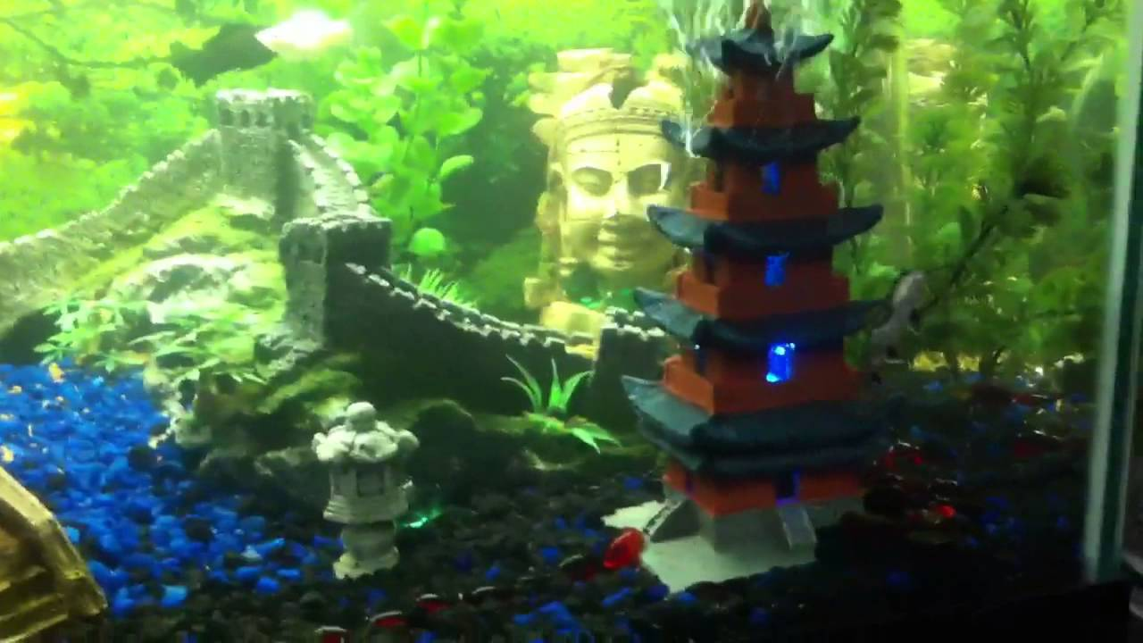 Fish tank japanese decorations aquarium decoration hill for Japanese themed garden plants