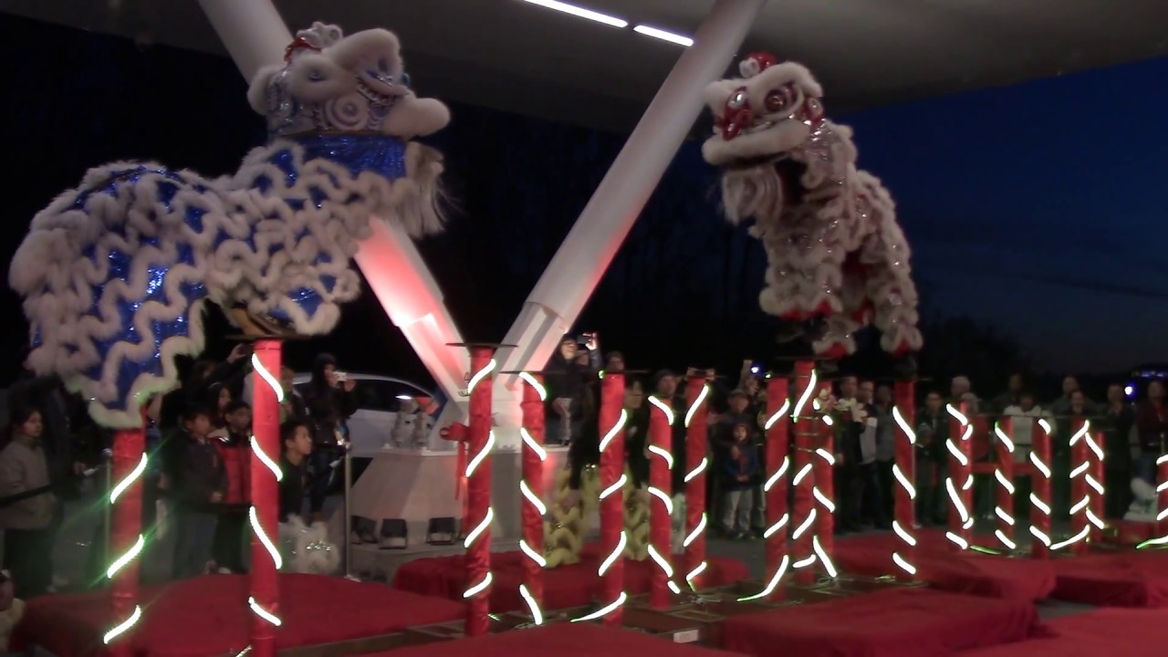 Imperial Lion Dance Team performs at MGM National Harbor Casino Valet