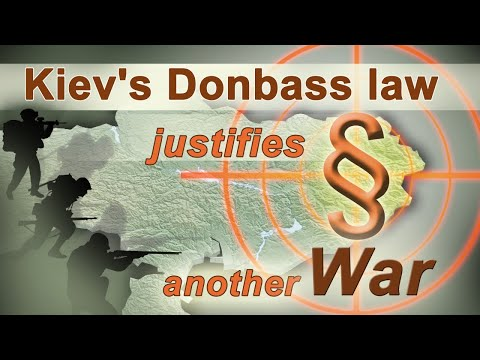 Kiev\'s Donbass law justifies another war  | www.kla.tv