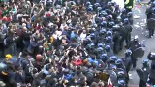 Riot police attack peaceful protesters at G20 Climate Camp
