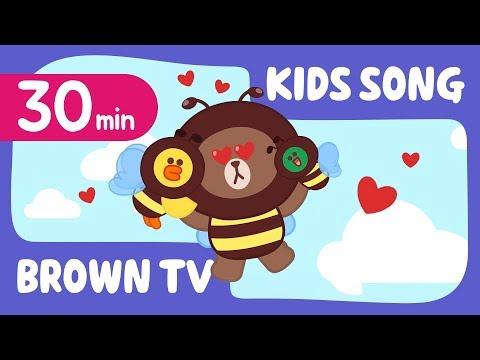 [Brown TV] Super Simple KIDS SONG 18   30min   Line Friends Kids Songs