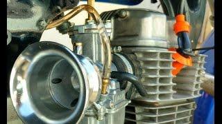 Carburador COMPETIÇÃO KOSO 30MM COM POWER JET instalado na titan 150