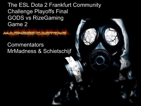 GODS vs RizeGaming ~Game 2~ Dota 2 Frankfurt Community Challenge Playoffs Finals