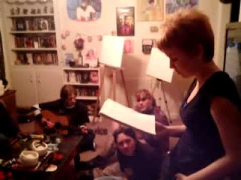 """Guerilla Poets' Gambit reading """"Creole"""" with Guerilla Poets' AM Huxley on guitar"""
