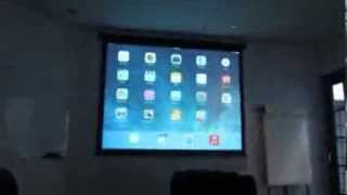 ipad air connect with projector tv or any large screen whiteboard replacement